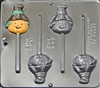 949 Scarecrow Face Pop Lollipop Chocolate Candy Mold