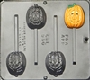 950 Pumpkin Pops Lollipop Chocolate Candy Mold