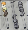 951 Pretzel Pop (Pumpkin, Ghost, Witch) Lollipop Chocolate Candy Mold