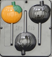 955 Pumpkin Lollipop Chocolate Candy Mold