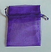 "BA-50-60 Purple Organza Sheer Pouch. Drawstring close 3"" x 4""  12 ct."