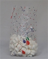BA-61 Confetti/Balloon printed cellophane bag. 100 ct.