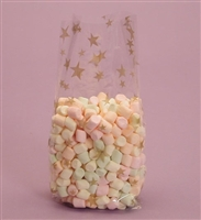 BAP-02 Gold Stars printed cello bag. 100 ct.