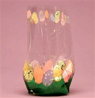 BAP-06 Easter Eggs printed cello bag. 100 ct.