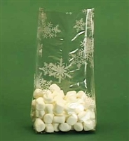 BAP-11 White Snowflakes printed cello bag. 100 ct.