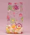BAP-12 Flower Power printed cello bag. 100 ct.