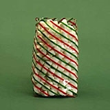 BAP-14 Diagonal Stripe Red/Green/Gold printed bag. 100 ct.