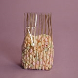 BAP-15 Vertical Stripe Gold printed cello bag. 100 ct.