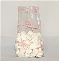 BAP-16 Hope Ribbon printed cello bag. 100 ct.