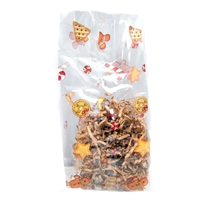 BAP-19 Santa's Treats printed cello bag. 100 ct.