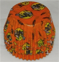 BC-05 Halloween Print on Orange Standard Baking Cup 700 ct.