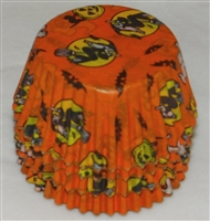 BC-05-100 Halloween Print on Orange Standard Baking Cup 100 ct.