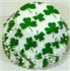 BC-14-100 Green Shamrock on White Standard Baking Cup 100 ct.
