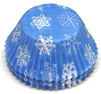 BC-16 Snowflake printed on Lt. Blue Standard Baking Cup 500 ct.