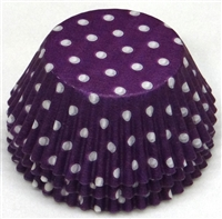 BC-20 White Polka Dot on Purple Standard Baking Cup 500 ct.