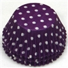 BC-20-100 White Polka Dot on Purple Standard Baking Cup 100 ct.