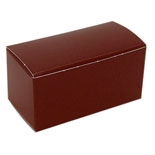 "BO-10B Brown Truffle Box (holds 2 pcs.) 2 5/8"" x 1 3/8"" x 1 1/4"" Quantity 50"