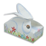 "BO-115 Bunny Buddy Box. 1/4 lb. one piece box. 4 1/2"" x 2 5/16"" x 1 1/8"". Quantity 25"