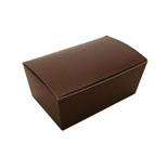 "BO-11B Brown Ballotin Box (holds 2 pcs.) 2 13/16"" x 1 9/16"" x 1 1/4"" Quantity 50"