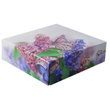 "BO-127Q Butterflies and Flowers 2 pc. Box 8 oz. 5 1/2"" x 5 1/2"" x 1 1/8"" Qty 100"