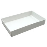 BO-1370B 1/2 lb. White Cardboard BASE ONLY 7in. x 4 3/8in. x 1 1/8in. Quantity 250