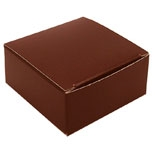 "BO-13BQ Brown 1pc. Box (Holds 4 pcs.) 2 1/2"" x 2 1/2"" x 1 1/8"" Quantity 250"