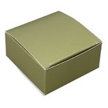 "BO-14 Gold 1pc. Box (Holds 4 pcs.) 2 1/2"" x 2 1/2"" x 1 1/8"" Quantity 50"