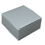 "BO-15Q Silver 1pc. Box (Holds 4 pcs.) 2 1/2"" x 2 1/2"" x 1 1/8"" Quantity 250"