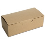 "BO-19KQ Kraft 1pc. box w/window (1/2lb.) 5 1/2"" x 2 3/4"" x 1 3/4"" Quantity 250"