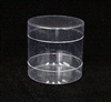 "BO-29 Round Box 2 piece Clear 1 7/8"" diameter"
