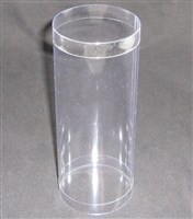 "BO-38-25 Round Box 2 piece Clear Acetate 3"" diameter x 7 1/2"" high"