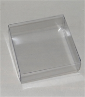 "BO-45 Square Clear Acetate Box 2pc. 3 1/2"" x 3 1/2"" x 1 1/8"""