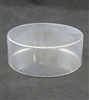 "BO-50-25 Clear Round Acetate Box 2 piece. 4"" diameter x 1 1/2"" deep."
