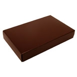 "BO-5BRN 1/2 lb. Brown cardboard cover w/White base 7"" x 4 3/8"" x 1 1/8"""