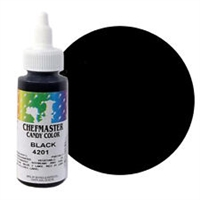 CM-01 Chefmaster Black Liquid Candy Color  2oz.