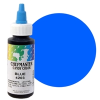 CM-03 Chefmaster Blue Liquid Candy Color 2oz.