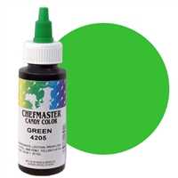 CM-05 Chefmaster Green Liquid Candy Color 2oz.