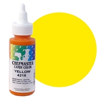 CM-15 Chefmaster Yellow Liquid Candy Color 2oz.