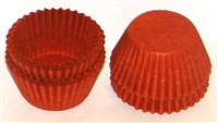 "CP-05 #4 Deep Red candy cup. 1"" diameter, 3/4"" wall. Qty. 1,000"