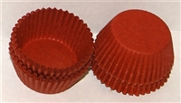"CP-06 #5 Deep Red candy cup. 1 1/4"" diameter, 3/4"" wall. Qty. 1,000"