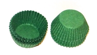 "CP-07Q #4 Dark Green candy cup. 1"" diameter, 3/4"" wall. Qty. 25,000"
