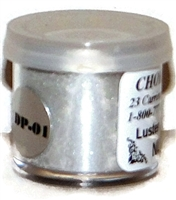 "DP-01 ""Coin Silver"" (Nu Silver) Luster Dusting Powder.  2 gram container."