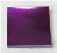 F460 Purple Foil 4 in. x 4 in. Qty 125 sheets
