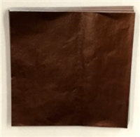 F492 Chocolate Brown Foil.    4in. x 4in.    Qty 125 sheets