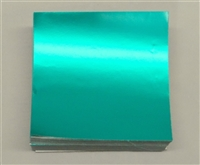 F499 Teal Foil. 4 in. x 4 in. Qty 125 sheets
