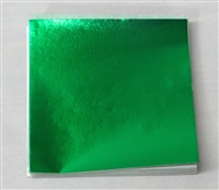 F50 Emerald Green Foil. 3in. x 3in. Qty 125 sheets
