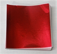 F619 Red Foil 6in. x 6in. Qty 125 sheets