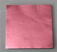 FD-25 Dull Light Pink Confectionery Foil 3in. x 3in. Qty 125 sheets