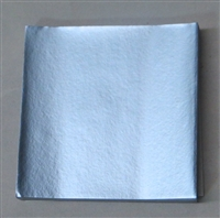 FD-31 Dull Light Blue Confectionery Foil 3in. x 3in. Qty 125 sheets