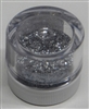 Silver Jewel Dust  Food Grade 4 gram container. Disco Dust